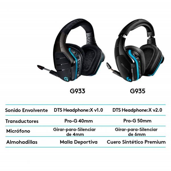 Diadema Gamer InalambricaLogitech G935 008