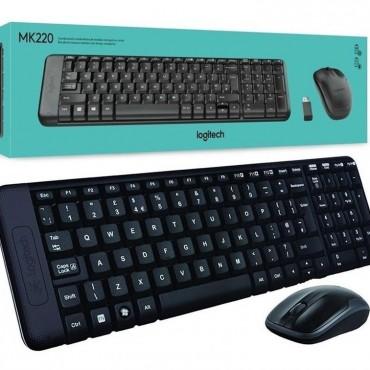 Combo Teclado y Mouse Inalambrico Logitech MK220