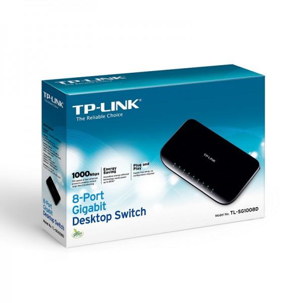 Switch TP LINK TL SG1008D 8 Puertos Base 10 100 1000